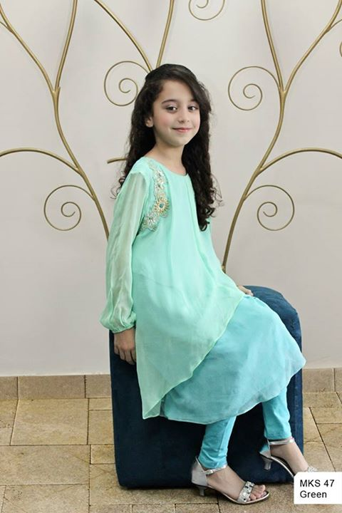Maria B Kids Party and Wedding Dresses Design Collection 2014 2015 for Girls Facebook Shalwar Kameez