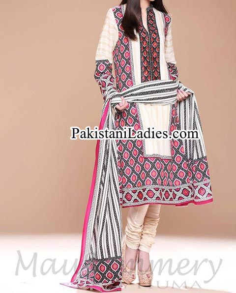 Mausummery-by-Huma-Summer-Dresses-2014-for-Women and Girls lawn 2014 catalogue Facebook Long Shirt Choori Pajama Trend