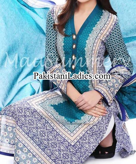 Mausummery Lawn by Huma 2014, Summer Shalwar Kameez Fashion