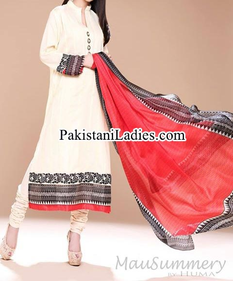 Mausummery-by-Huma-Summer-Dresses-2014-for-Women and Girls lawn 2014 catalogue Facebook Shirt Choori Pajama