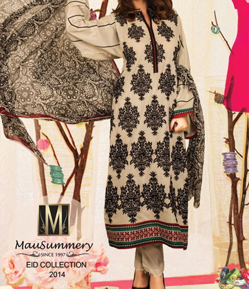 Mausummery Lawn Eid Summer Collection 2014 Prices for Women and Girls Price Rs. 4,650 catalogue