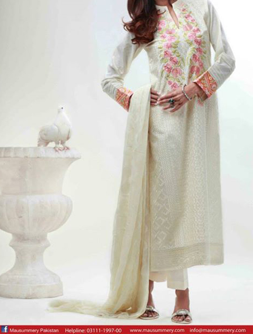 Mausummery Lawn Eid Summer Collection 2014 Prices for Women Dresses Girls Facebook catalogue