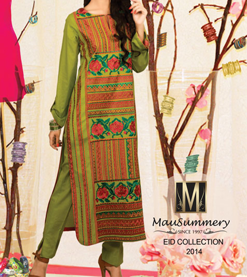 Mausummery Lawn Eid Summer Collection 2014 Prices for Women Dresses Girls Facebook Price Rs 3950 catalogue