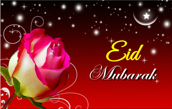 New Beautiful Eid Cards 2014 2015 for Friend Family Mother Father Wife Greeting Wallpaper Flower Red Rose Love Pics Images Facebook