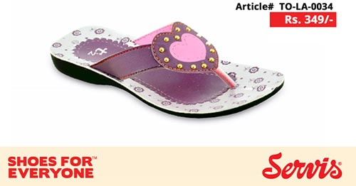 New service 2014 servis shoes pakistan eid summer collection for Kids with Prices flat Slipper girls