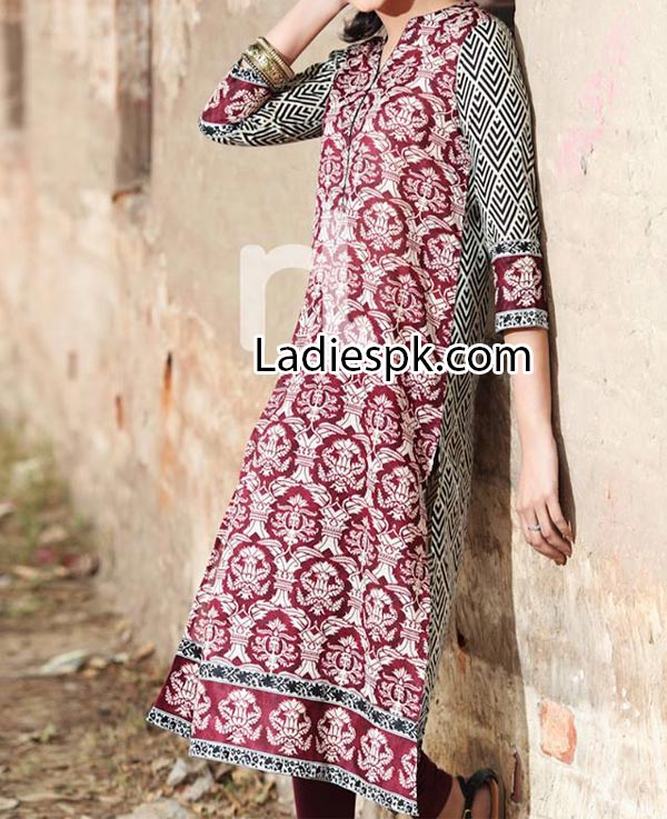 Nishat Linen Eid Summer Designs Collection 2014 for Women Girls Price Nisha Fashion Dress Latest PKR2,400