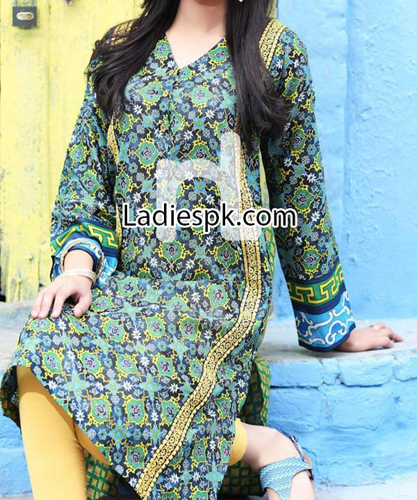 Nishat Linen Eid Summer Designs Collection 2014 for Women Girls Price Nisha Fashion Dress PKR2,200