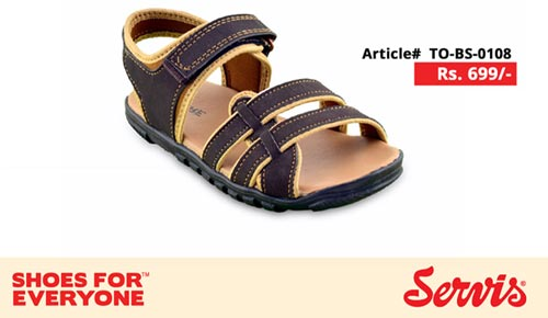 service 2014 servis shoes pakistan eid summer collection for Kids with Prices flat sandal for Boys