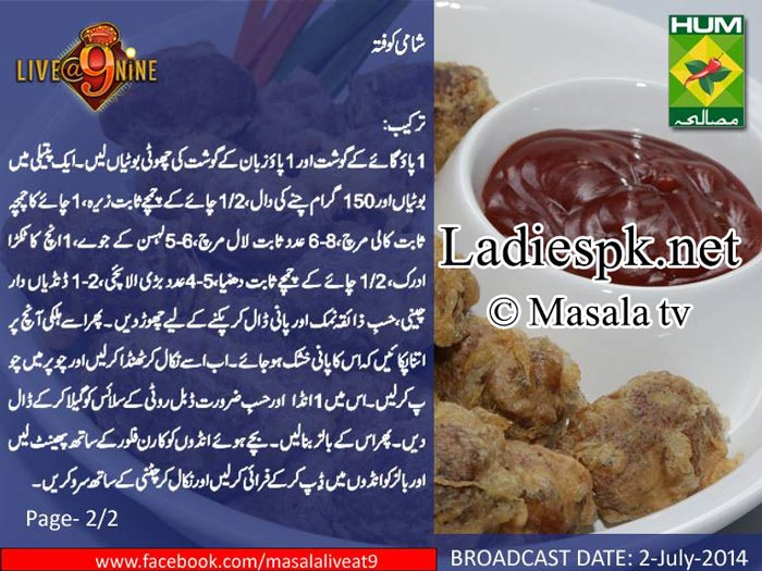 Shami-Kofta-Recipe-in-Urdu-English-by-Chef-Gulzar-Masala-TV-Live@9nine-Facebook