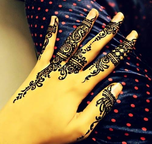 Simple Arabic Henna Eid Mehndi Designs 2014 For Hands Images Romantic Facebook Pakistani Indian