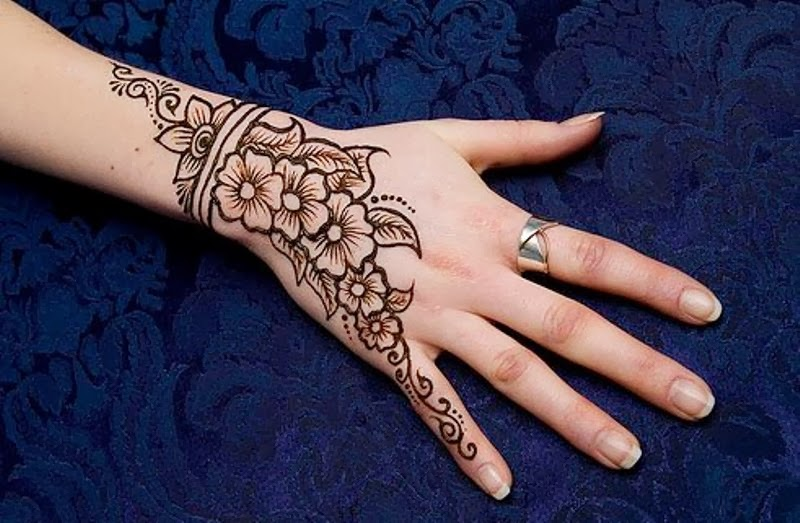 Mehndi Designs New Simple : Simple arabic henna eid mehndi designs for hands images
