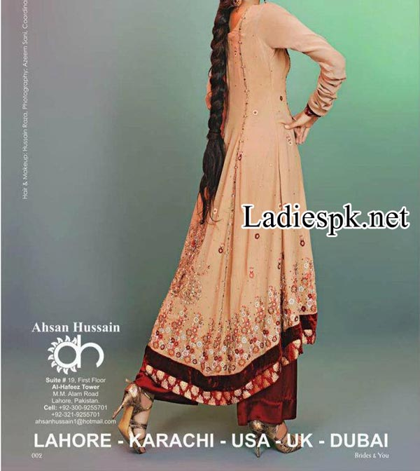 Ahsan-Hussain-Magazine-Bridal-Wedding-&-Party-Dresses-for-Girls-2014-2015-frock-Choori-Pajama