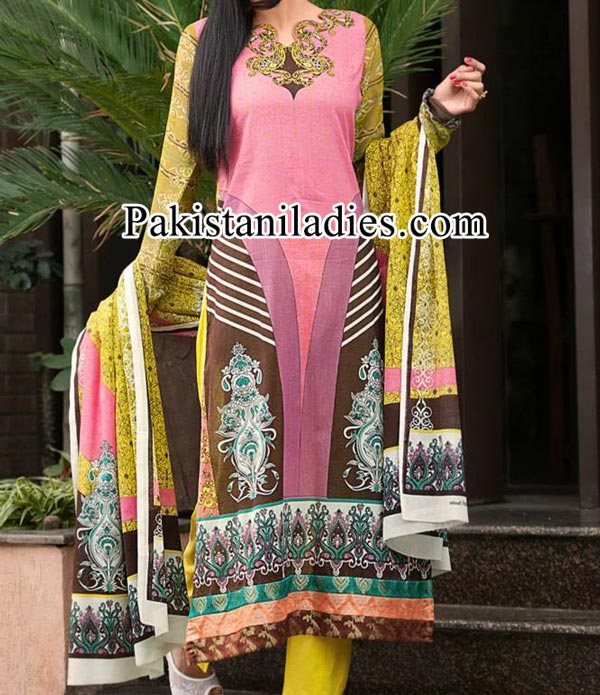 Dawood Lawn Collection 2014 2015, Log Shalwar Salwar Kameez Fashion Trend in Summer for Women Girls Pakistan India Pink
