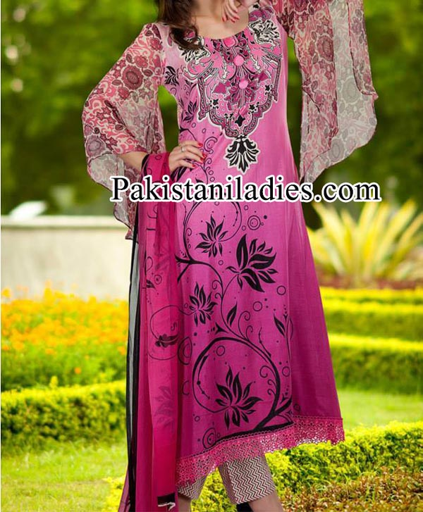 Dawood Lawn Collection 2014, Log Shalwar Salwar Kameez Fashion Trend in Summer for Women Girls Pakistan India Pink
