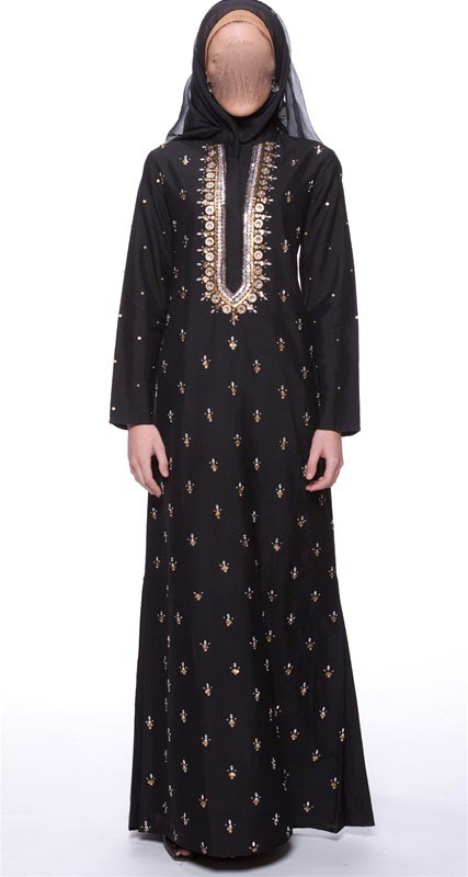 fancy abaya kaftan jalabiya hijab fashion 2014 2015 uae
