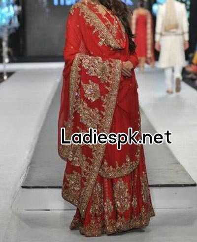 Fashion-Trends-Of-Full-Sleeve-Bridal-Wedding-Dresses-2014-For-Pakistani-Indian-Facebook-Nomi-Ansari-Red
