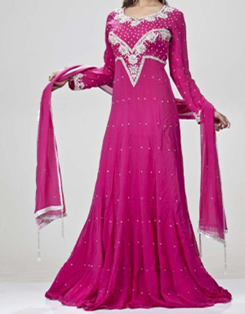Pakistani-Long-Maxi-Design-Style-Dress-for-Wedding,-Party-2014-2015-Fashion-Trends-Facebook-Frock-Lehenga-Pink