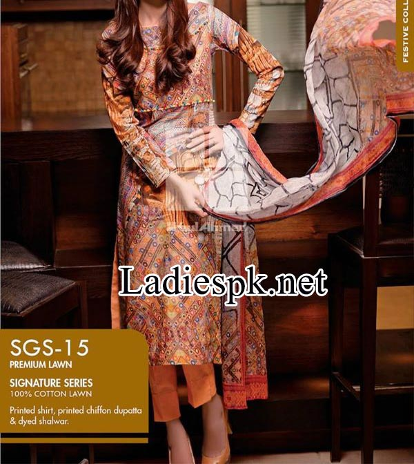 Signature-Series-Collection-by-Gul-Ahmed-2014-2015-Women-Shalwar-Kameez-Dresses-Design-Price-Rs.-4,800