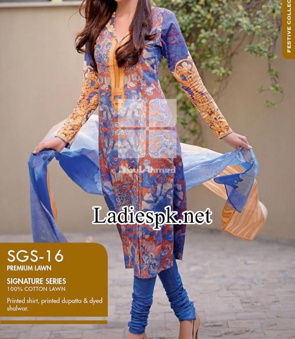 Signature-Series-Collection-by-Gul-Ahmed-2014-2015-Women-Shalwar-Kameez-Dresses-Designs-Price-Rs.-4,200