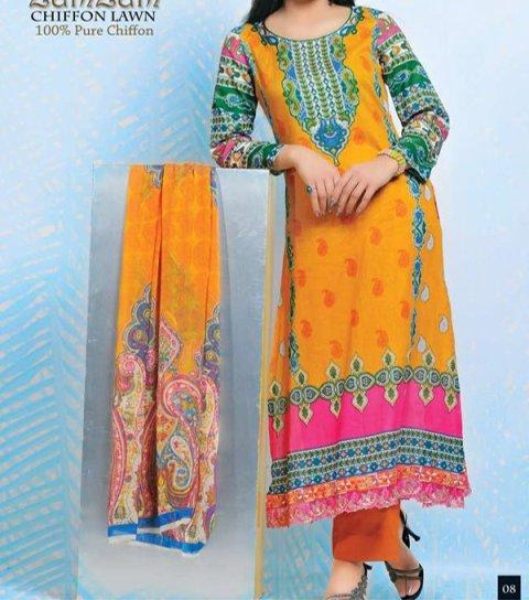 zamzam--Dawood-Lawn-Collection-2014,-Log-Kameez-Trouser-Fashion-Trend-in-Summer-for-Women-Girls-Pakistan-India