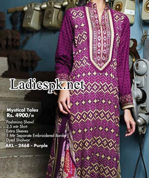 Alkaram Winter Dresses 2014 Volume 1 For Women girls Shalwar Kameez Designs 2015 Fashion