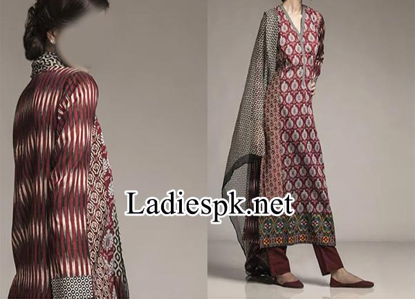 khaadi cambric autumn collection 2014 cotton Women Shalwar Kameez Design 2015