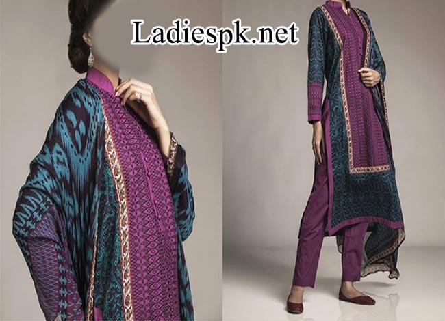 khaadi cambric autumn collection 2014 for Women Women Shalwar Kameez Design 2015