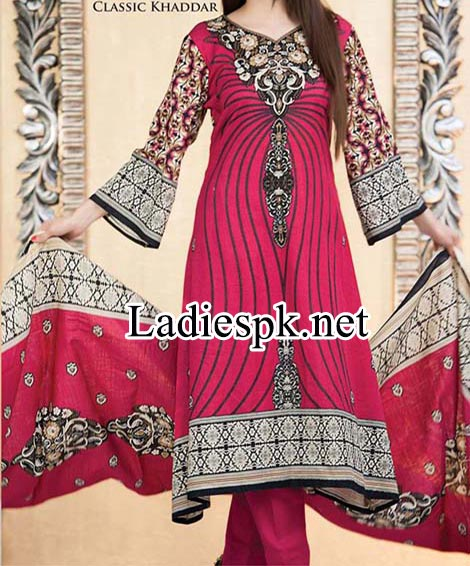 Naveed-Nawaz-Textile-Star-Classic-Khaddar-Collection-2015- A Aline Kameez Design 2014