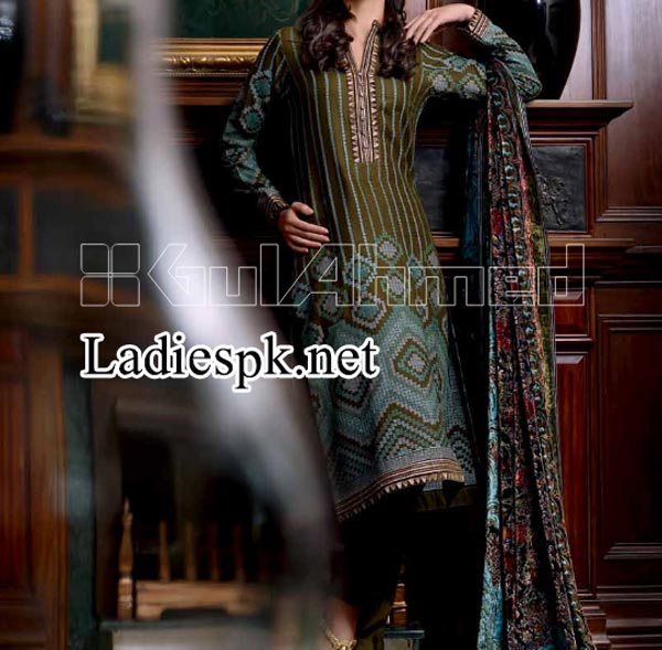 Fashion Gul Ahmed Fall  Winter Dresses Designs Collection 2014 2015 Catalog Magazines Prices Women Girls Pics